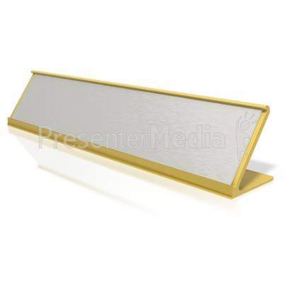 Blank Identification Name Plate Signs And Symbols