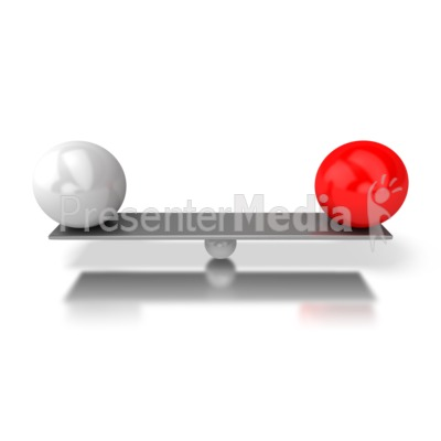 Balanced Bar PowerPoint Clip Art