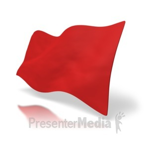 ID# 5477 - Red Flag - Presentation Clipart