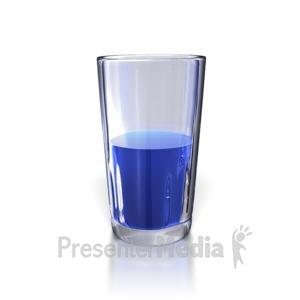 ID# 5479 - Glass Half Empty - Presentation Clipart