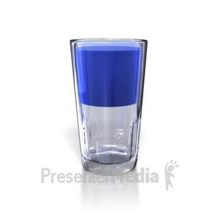 ID# 5480 - Glass Half Full - Presentation Clipart