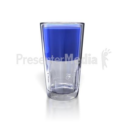 Glass Half Full PowerPoint Clip Art
