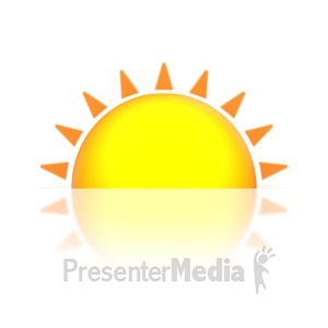 ID# 5487 - Sunset or Sunrise - Presentation Clipart