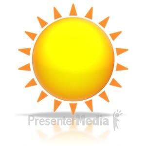 ID# 5488 - Sun Shine - Presentation Clipart