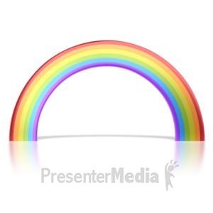 ID# 5496 - Shiny Rainbow - Presentation Clipart