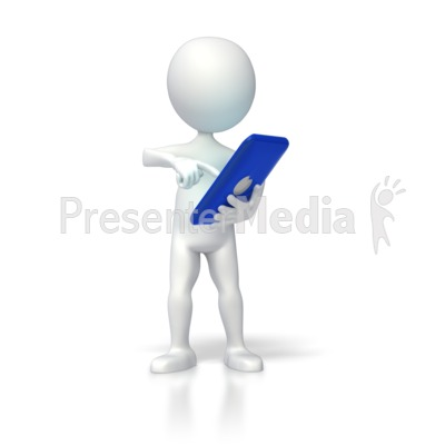Operating Colored Computer Tablet PowerPoint Clip Art