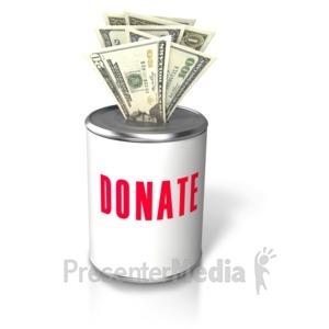 ID# 5537 - Donation Money Insert Can - Presentation Clipart