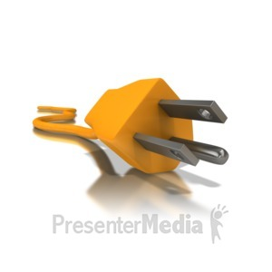 ID# 5538 - Electrical Cord Three Prong - Presentation Clipart