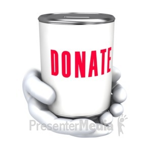 ID# 5539 - Hold Donate Can  - Presentation Clipart