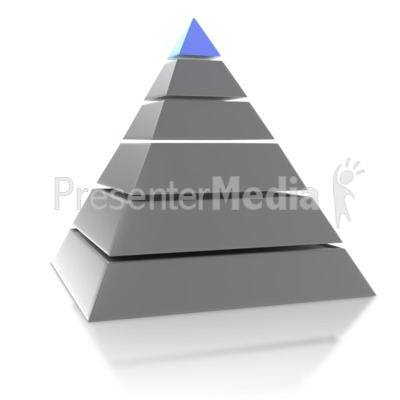 Six Point Pyramid PowerPoint Clip Art