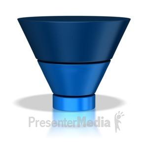 ID# 5552 - Three Stage Funnel - Presentation Clipart