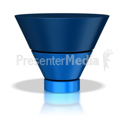 Three Stage Funnel PowerPoint Clip Art