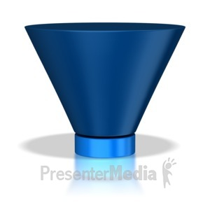 ID# 5553 - Two Stage Funnel - Presentation Clipart
