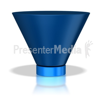 Two Stage Funnel PowerPoint Clip Art