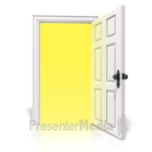 ID# 5554 - Bright Light Door - Presentation Clipart