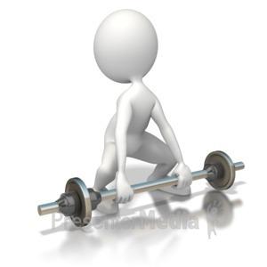 ID# 5558 - Weak Weightlifter - Presentation Clipart