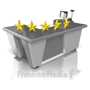 ID# 5564 - Five Star Retail Customer Service - Presentation Clipart