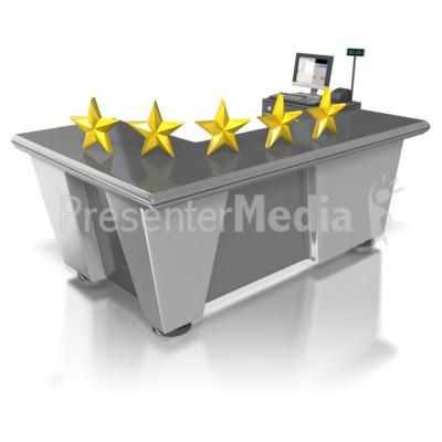 Five Star Retail Customer Service PowerPoint Clip Art