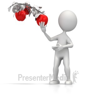 ID# 5580 - Low Hanging Fruit - Presentation Clipart