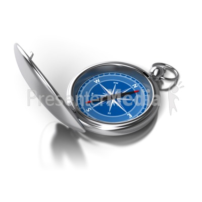 Opened Compass Direction PowerPoint Clip Art