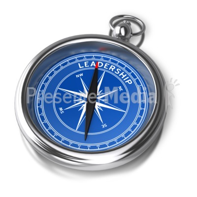 Compass Leadership Direction PowerPoint Clip Art