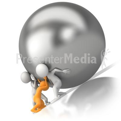 Team Push Burden PowerPoint Clip Art