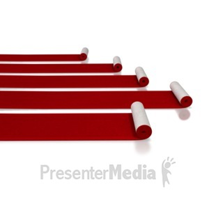 ID# 5596 - Red Carpet Rolls - Presentation Clipart