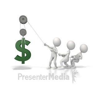 ID# 5619 - Lift Dollar Fundraiser - Presentation Clipart