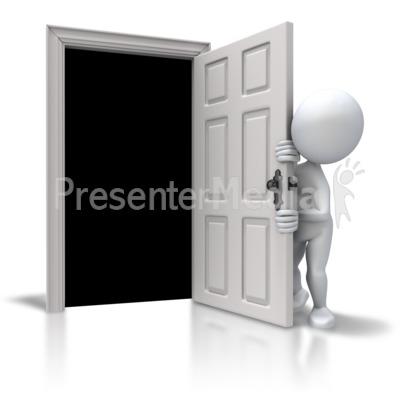Afraid Of The Closet PowerPoint Clip Art