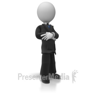 ID# 5633 - Business Man Pose - Presentation Clipart