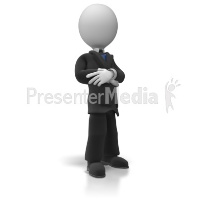 Business Man Pose PowerPoint Clip Art
