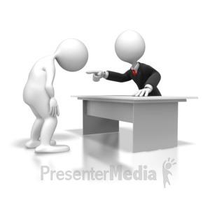 ID# 5635 - Employee Disciplined  - Presentation Clipart