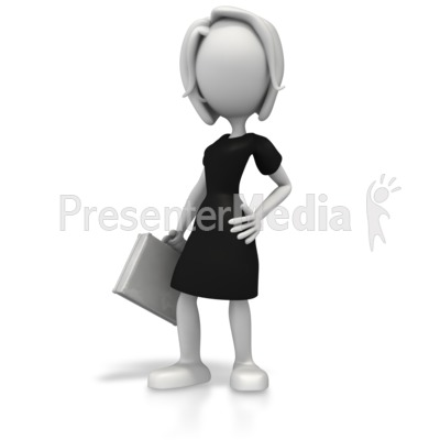 Business Woman Pose PowerPoint Clip Art
