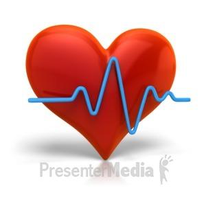 ID# 5646 - Heart Beat Cardiogram - Presentation Clipart