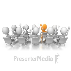 ID# 5660 - Class Has Answer - Presentation Clipart