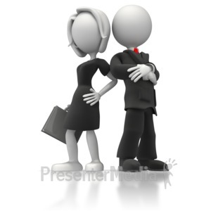 ID# 5662 - Business Man And Woman - Presentation Clipart