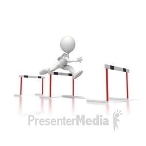 ID# 5668 - Clear Hurdles - Presentation Clipart