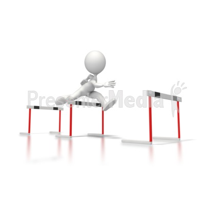 Clear Hurdles PowerPoint Clip Art