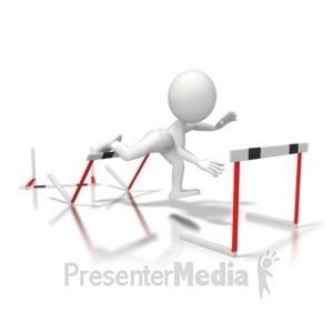 ID# 5680 - Trip Hurdles - Presentation Clipart