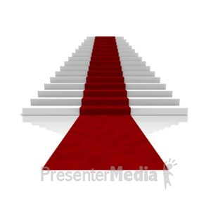 ID# 5681 - Big Steps With Carpet - Presentation Clipart