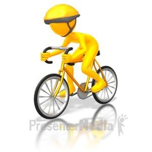 ID# 5683 - Street Cyclist Racer - Presentation Clipart