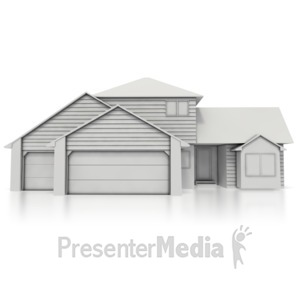 ID# 5698 - Residential Home  - Presentation Clipart