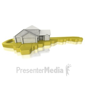 ID# 5704 - House On Sitting Key  - Presentation Clipart