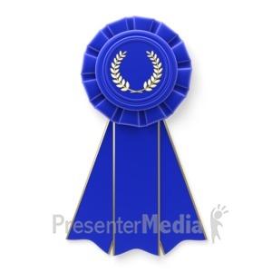 ID# 5708 - Blue Ribbon - Presentation Clipart