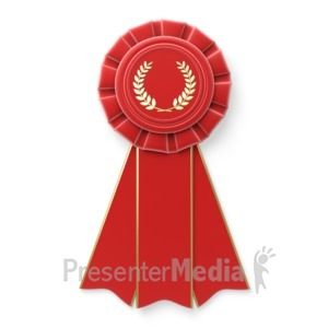 ID# 5709 - Red Ribbon - Presentation Clipart