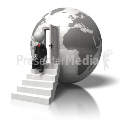 Global Business Trip PowerPoint Clip Art