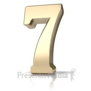 ID# 5721 - Gold Seven - Presentation Clipart
