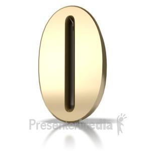 ID# 5724 - Gold Zero - Presentation Clipart