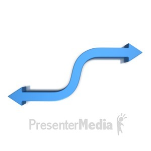 ID# 5758 - Double Arrows S Curve Opposite  - Presentation Clipart