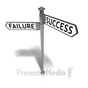 ID# 5768 - Street Sign Success Failure - Presentation Clipart